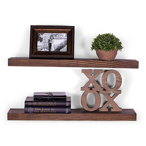 "DAKODA LOVE 5.25"" Deep Clean Edge Floating Shelves"