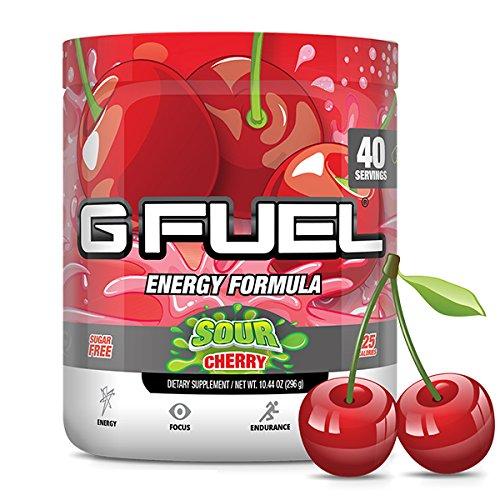 G Fuel Sour Cherry Tub 10.44 oz (40 Servings) Elite Energy