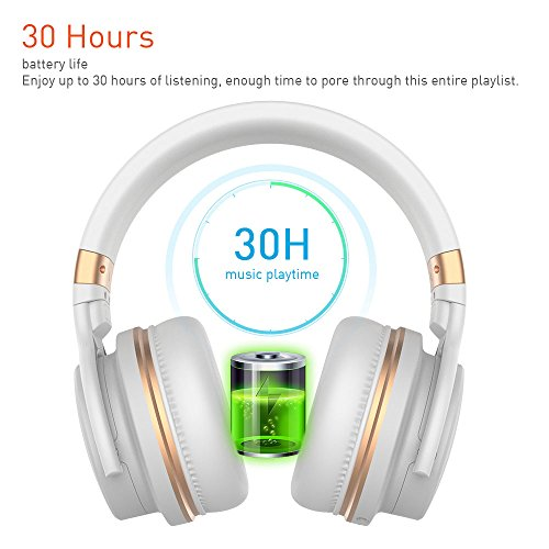 Bluetooth Headphones, Meidong Lightweight Wireless Bluetooth Headphones, Meidong Lightweight Wireless Headphones with Microphone Hi-Fi Sound Deep Bass Headsets Over Ear, Comfortable Protein Ear pads, 30 Hours Playtime for Travel Work TV.