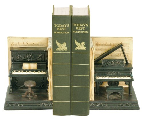 Sterling Composite Pair Dueling Piano Bookends