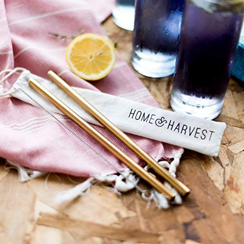 Reusable Stainless Steel Straws by Home & Harvest