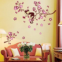 Art Decor Mural Room Decal Peach Blossom Flowers