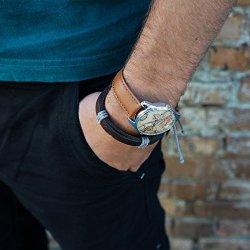 World Map Watch, Brown Map Wrist Watch