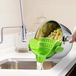 Kitchen Gizmo Snap 'N Strain Strainer, Clip On Silicone Colander