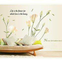 Lilies Wall Sticke Art Decals Mural Wallpaper