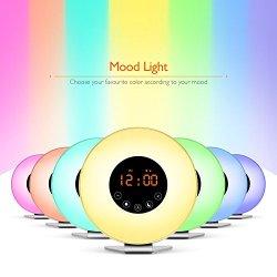 Sunrise Wake Up Light Digital Alarm Clock