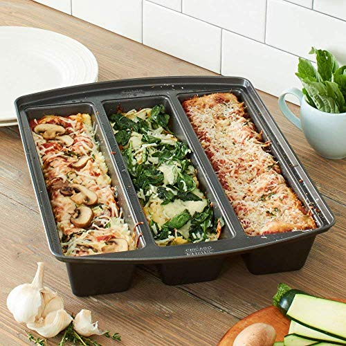 Professional Lasagna Trio Pan, 16-Inch-by-12.5-Inch