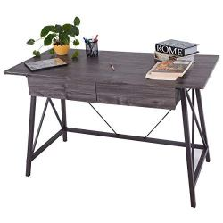 Wood Writing Desk Computer Table with Drawers
