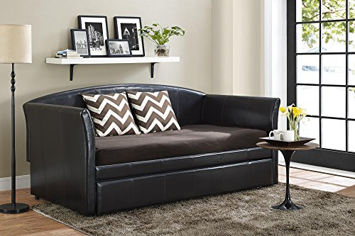 DHP Halle Upholstered Daybed and Trundle