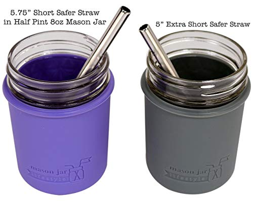 "Extra Short 5"" Safer Stainless Steel Straws"