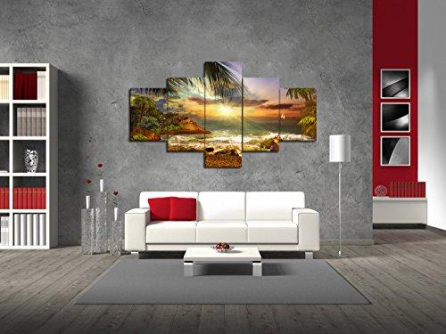 Yatsen Bridge Beautiful Beach Waves Palm Sunset