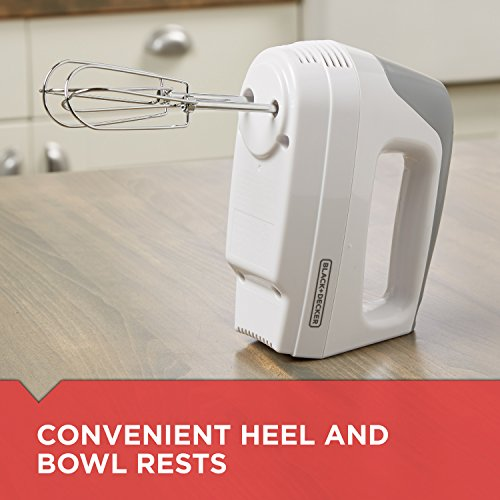 BLACK+DECKER Lightweight Hand Mixer, White