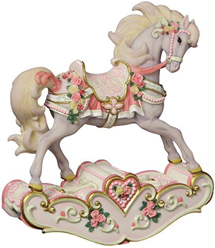Hearts and Roses Musical Rocking Horse