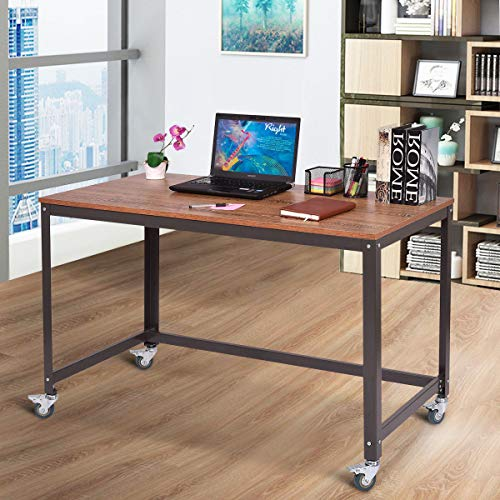 Computer Desk, Wood Portable Compact Simple Style