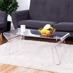 Modern Accent Glam with Integrated Magazine Rack End Table