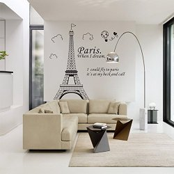 Art Decor Mural Room Decal Sticker Romantic Paris