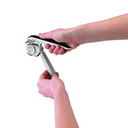 Chef'n EzSqueeze One-Handed Can Opener (Black and Meringue)