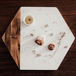 TOPHOME Cheese Board Versatile Hexagon Marble