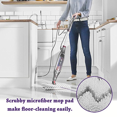 Flammi 2 Pack Replacement Steam Mop Pads Fits