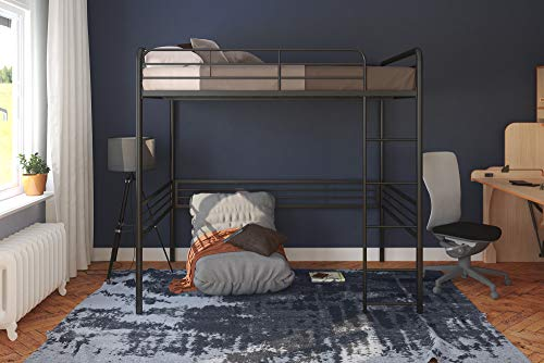 DHP Full Metal Loft Bed with Ladder, Space-Saving Design