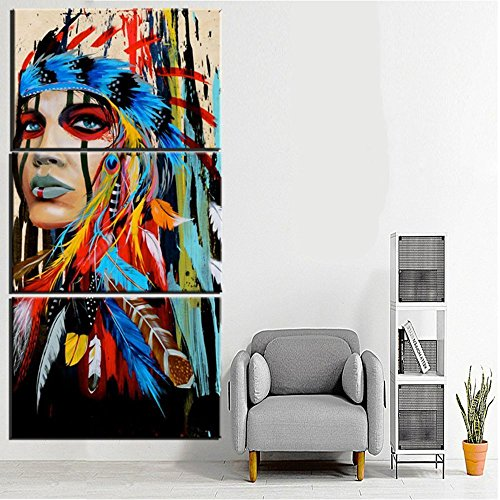 Canvas Print Indian Painting Native American Girl