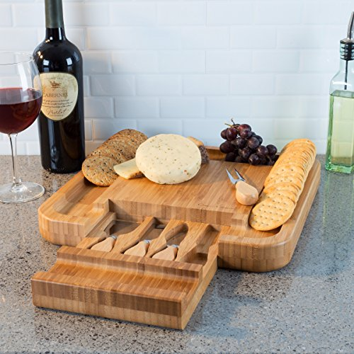 Classic Cuisine Bamboo Cheese Serving Tray