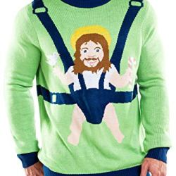 Tipsy Elves Men's Sweet Baby Jesus Christmas Sweater: Medium