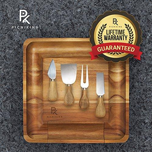 Cheese Board and Knife Set   100% Teak (NO CHEAP BAMBOO)