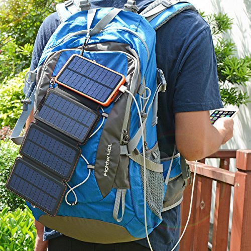 25000mAh Solar Charger ADDTOP Portable Solar Power Bank