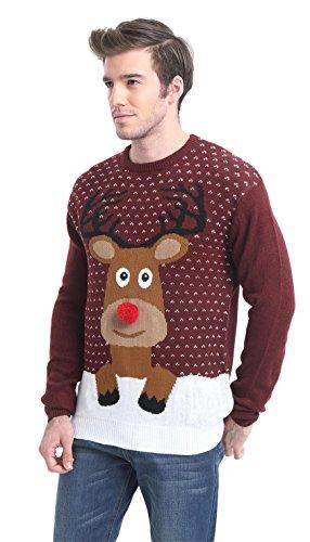 Daisysboutique Men's Holiday Reindeer Snowman