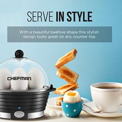 Chefman Electric Egg Cooker/Boiler, Rapid Egg Maker