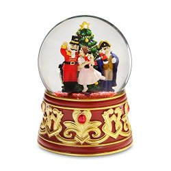 Nutcracker with Jeweled Base Water Globe