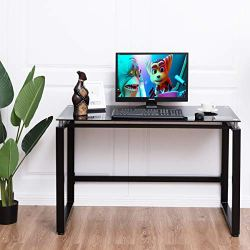 Modern Home Office Workstation with Spacious Glass