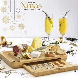 Premium Cheese Board & Utensils Gift Set