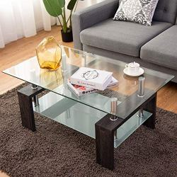 Simple Style Rectangular Wood Legs End Side Table