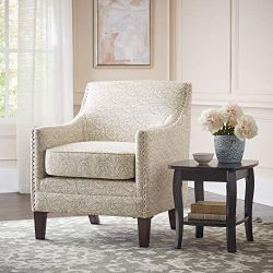 Ravenna Home Kaiden Patterned Nailhead Accent Chair