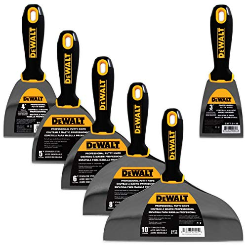 DEWALT DELUXE Stainless Steel Putty Knife Set