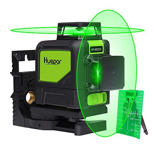 Huepar 902CG Self-Leveling 360-Degree Cross Line Laser Level