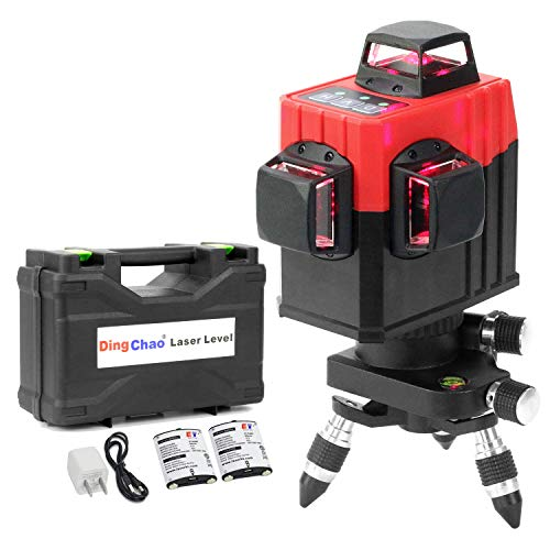DINGCHAO 360 Laser Tools for Construction, Three-Plane 3 x 360 Laser Level