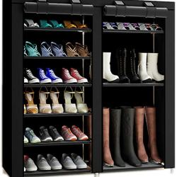 27-Pairs Portable Boot Rack Double Row Shoe Rack