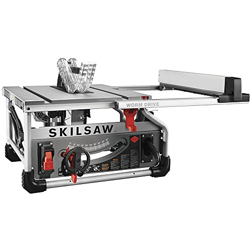 "10"" 15A portable worm drive table saw"