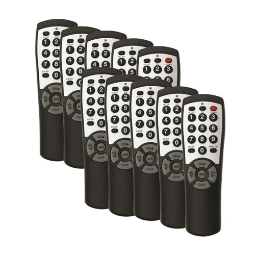 10-pack Brightstar® Universal TV Remote