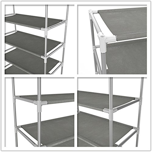 10 Tiers Shoe Rack Easy Assembled Oanon 10 Tiers Shoe Rack Easy Assembled Non-woven Fabric Shoe Tower Stand Sturdy Shelf Storage Organizer Cabinet
