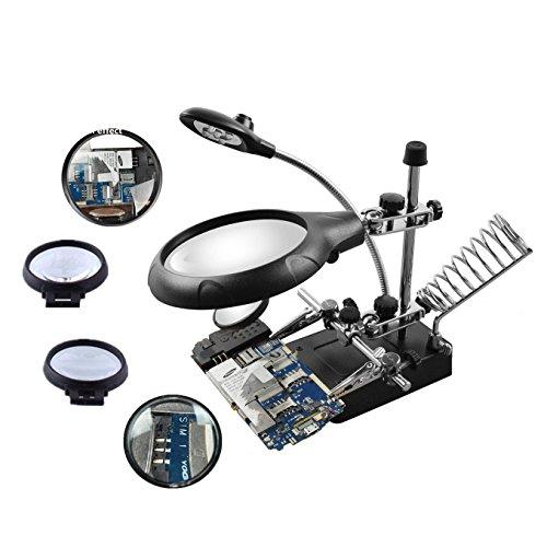 Beileshi 2.5X 7.5X 10X LED Light Magnifier Desktop