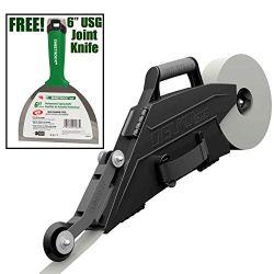 Drywall Banjo Taper Taping Tool with Inside Corner Roller Wheel