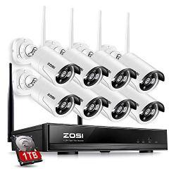 ZOSI 8CH Wireless Security Cameras System