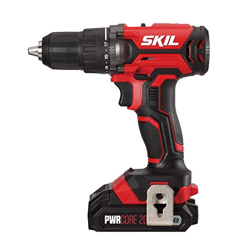 SKIL 20V 1/2 Inch Cordless Drill Driver, Includes 2.0Ah