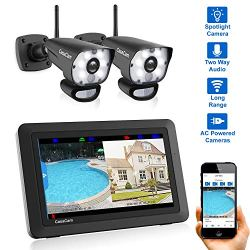 CasaCam VS1002 Wireless Security Camera System with AC Powered HD