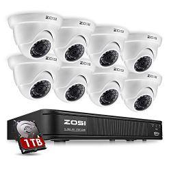 ZOSI 8-Channel 720P HD-TVI Home Surveillance Camera System