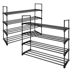 Shoe Rack Stackable Shoe Tower Cabinet